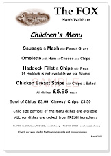 Childrens-Menu